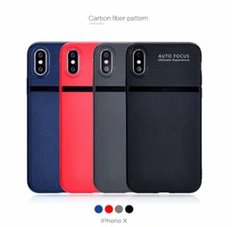 Canada Nouvelle mode en fibre de carbone PU TPU en cuir souple AUTO FOCUS housse de protection Skin pour iPhone X Offre
