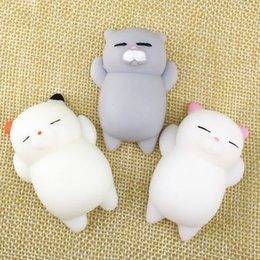 Wholesale Hand Squeeze Ball - antistress ball Mini Squeeze Toy Squishy cat stress reliever Cute Kawaii doll Squeeze Stretchy Animal Healing Stress Hand Fidget vent Toys