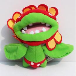 Wholesale Petey Piranha Plush - NEW Super Mario Plush Doll 18cm Petey Piranha Baby Toys Gift Free Shipping