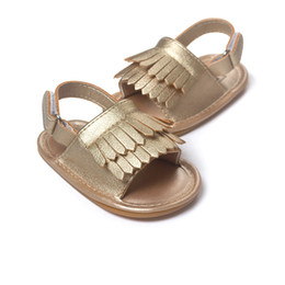 Wholesale Gladiator Fringe Sandals - summer tassel toddler shoes baby moccasins kids moccs baby shoes kids sandals fringe boy shoes boys girls shoes 2016 new designed moccs