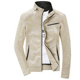 Wholesale Mens Leather Biker Jacket Xl - Fall-Leather Jacket Men 2016 Fashion Autumn Winter PU Jackets And Coats Mens Casual Jacket Bomber Motercycle Biker Jacket ,YA302
