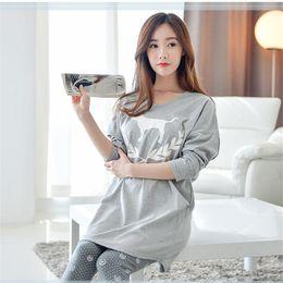 Wholesale pajama sets for girls - Wholesale- 2016 Winter Women Pajama Sets Autumn Summer Sleepwear Pajamas girls night Homewear For Women Nightgown