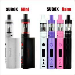Wholesale Ecig Minis - 2016 hot Ecig vape subox mini kit Subox nano kit clone e cigarettes kits vs Topbox Mini TC 75w kit Topbox Nano TC 60w kits