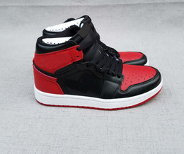 Wholesale Thanksgiving Sock Sales - Hot Sale 1 Retro High OG Banned Black Red White Mens Basketball Shoes 1s Sport Shoe Athletic Trainers sneaker with shoes box And Free Socks