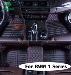 Wholesale Bmw Floor - Top Quality 3D car floor mat for BMW 1 Series foot mat car foot pad 4 colors Left hand driver drop shipping