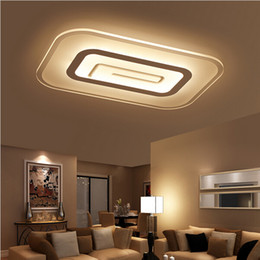 Wholesale Modern Square Ceiling Lights - Modern brief square led ceiling light bedroom ceiling lamp rectangle living room ceiling lamp fixtures 40W 45W 65W ceiling fixture
