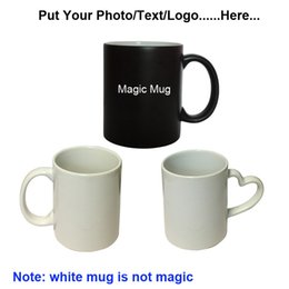 Wholesale Wholesale Photo Magic - Wholesale- Drop shipping DIY Photo Magic Color Changing Coffee Mug custom your photo on best gift for friends Christmas
