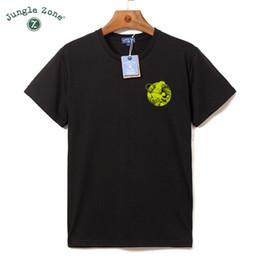 Wholesale Tropical Shirt Men S - Wholesale- JUNGLE ZONE Men's plus size T-shirt O-Neck t-shirt Tropical rain forest t shirt design mens t shirts 2017 new TA059