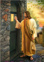 Wholesale Painting Jesus Christ - Framed portrait Jesus Christ knock at the door,Genuine High Quality Handpainted Art oil Painting On Thick Canvas Museum Quality Multi sizes