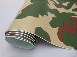 Wholesale Car Vinyl Wrap Camouflage - Forest Camouflage Car Protective Vinyl Film Wrapping Sticker Self-adhesive with Air Drains 1.52*30m Roll with Free Gift Film Scraper