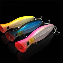 grandes señuelos de agua Rebajas 3 colores / lote Big Popper superficie de pesca de agua señuelos 12 cm 42 g cebo duro artificial alto carbono VMC gancho 6 #