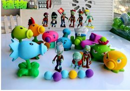 Wholesale Plants Zombies Figures Pvc - 9 Style New Popular Game PVZ Plants vs Zombies Peashooter PVC Action Figure Model Toys 10CM Plants Vs Zombies Toys
