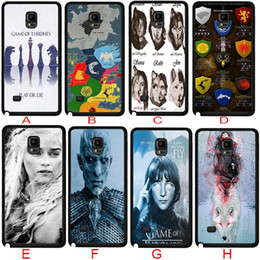 Wholesale Game S4 Case - 2016 New Game of Thrones TV Show Protective Case for Samsung galaxy S3 S4 S5 S6 samsung Note 2 note3 note4 5 Phone Case Hard Back Case Cover