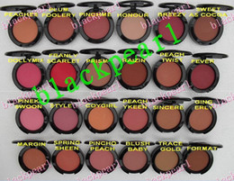 Wholesale Makeup English - 24 PCS FREE SHIPPING 2016 MAKEUP Lowest NEW product Shimmer Blush 24 color No mirrors no brus 6g English Name