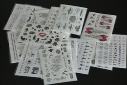 Wholesale Tattoo Transfers Lip - 20Pcs 9.5*14.5cm Skin art waterproof removeable transfer tattoo stickers Temporary Tattoos for decoration