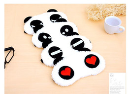 Wholesale Panda Sleeping - Free DHL Cotton Panda Goggles Sleep Mask Shading Moisture Remove Dark Circles Cartoon Eye goggles Improve Sleep Quality Moist Eyes