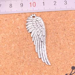 silberne metallflügel Rabatt 50pcs Antik Silber Charms Engelsflügel Anhänger Fit Armbänder Halskette DIY Metall Schmuckherstellung 51 * 17mm