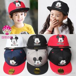 Wholesale Wholesale Childrens Caps - 20 Design Free Shipping Minnie Mickey Mouse Kids Cartoon Snapback Caps Donald Duck child baseball cap childrens hats E808