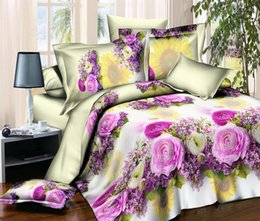 Wholesale Comforter Sets Queen Sale - 2016 Hot Sale 3D Bedding Sets 4pcs Charming Red Roses Pattern Design Printed Comforter Sets Queen Size Duvet Cover Bed Sheet