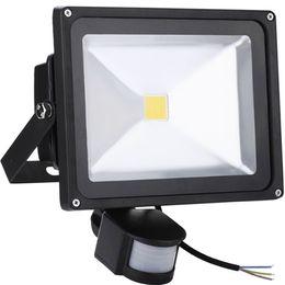 Luces de inundación con sensor de movimiento online-10W 20W 30W 50W LED Proyectores de movimiento PIR Sensor de movimiento IP65 Impermeable Seguridad Iluminación exterior Proyectores para puertas de jardín Luces de inundación