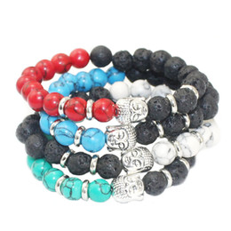 Wholesale Tibet Buddha Stone - Hot Sale Jewelry Wholesale 8mm Stone Beads Antique Buddha Men's Bracelets Gift New Arrival Products Fashion Accessories