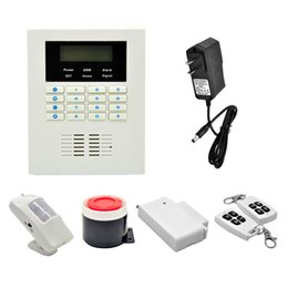 Wholesale Gsm Pstn Alarm Lcd - LCD display GSM + PSTN Dual Network Alarm Wireless smart coding, ease for adding new accessories With built-in back-up lithium battery