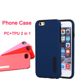 Wholesale Slim Iphone5 - For iphone7 7plus Hybrid PC+TPU 2 in 1 Shockproof Tough Slim Armor Case Cover for s6 s6edge for apple iphone5 6 6s DHL Free SCA146