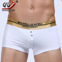 Wholesale Spandex Mens Boxer - Wangjiang fashion mens boxer shorts male calzoncillos hombre roupa masculina penis pouch cotton spandex comfortable underwear men boxer