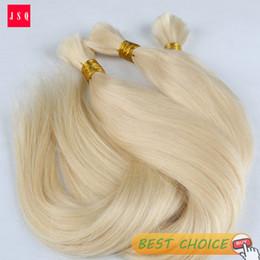 Wholesale Bulk Hair 613 - Wholesale-JSQ 613 Blonde Hair Bulk Hair Braid Straight Cuticle Living Hair 100g Per Bag Free Shipping By UPS DHL