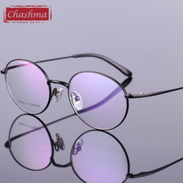 742e71c8ed Chashma New Titanium Round Eyeglasses Optical Vintage Spectacle Frames Gafas  graduadas Retro Gafas marcos redondos titanium de las lentes baratos