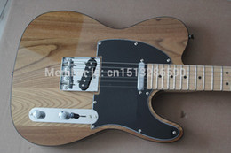 Wholesale Guitar Electric Maple Tele - wholesale . Free shipping Top quality New style Arrival Natural wood color TELE Electric Guitar Black tipping in stock