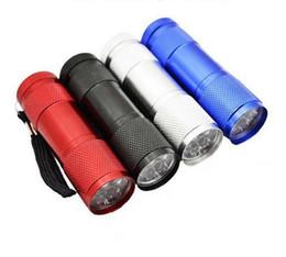 Lampes UV portables 9 LED Mini lampes de poche LED Super Bright LED Torch Light Lampes de camping en plein air noir ? partir de fabricateur