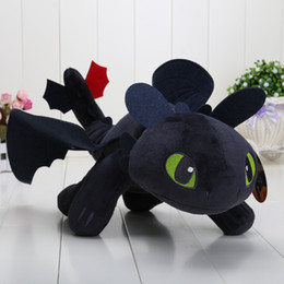 Wholesale Dragon Dolls - How to Train Your Dragon 40cm 15.8'' Toothless Night Fury Plush Doll Soft Stuffed Toy kids toys