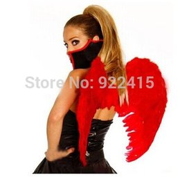 Wholesale Set Party Feather - ostumes Accessories Cosplay Costumes Performance props ball cosplay Party costume devil Feather Fairy Angel Wings set halloween decorati...