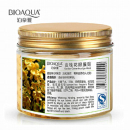 Wholesale Eye Care Health - 80 pcs  bottle BIOAQUA Gold Osmanthus eye mask women Collagen gel whey protein face care sleep patches health mascaras de dormir