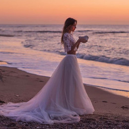 Wholesale White Asymmetrical Skirt - Long Beach Skirts For Women 2016 High Waist Floor Length Women Skirts Custom Made Wedding Dresses Satin Waist Summer Skirts