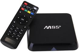 Wholesale Hdmi Android Tv Box Rj45 - M8S Plus M8S+ Amlogic S812 Android 5.1 Lollipop TV Boxes Quad Core 2G 8G 1000M BaseT RJ45 2.4 5G DHL OTH206