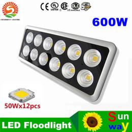 Wholesale Led Reflector White - High power Led FloodLights 50W 100W 150W 250W 300W 400W 500W 600W Sportlight Exterior Reflector Flood light lamp Exterieur Lamp AC85-265V
