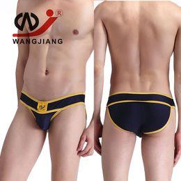 Wholesale Gold Boxer Briefs - Wholesale-WJ Male Underwear Slip Homme Cueca Masculina Men'S Briefs Underwear Calzoncillos Hombre Slips Underpants Spandex Pouch Briefs