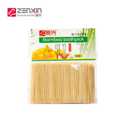 Wholesale High Quality Toothpicks - Wholesale-Zenxin 500 Pcs High-quality Party Bamboo Toothpicks Oral Wooden Tandenstokers Care Disposable Two Fine Palillos De Dientes
