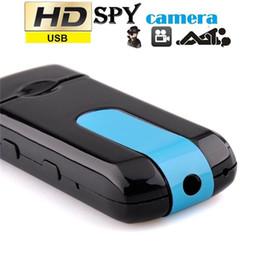Wholesale Usb Disk Mini U8 - 10pcs U8 HD 720P Mini USB Disk Camera DVR Motion Detect Camera Cam SPY Hidden Camera Hidden Video Recorder Portable Candid Camera