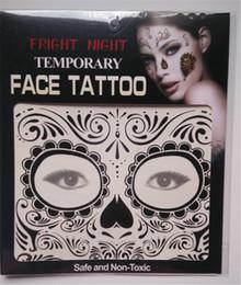 Wholesale Eye Transfers Tattoos Stickers - Fright Night Temporary Face Tattoo Body Art Chain Transfer Tattoos Temporary Stickers in stock 9 Styles