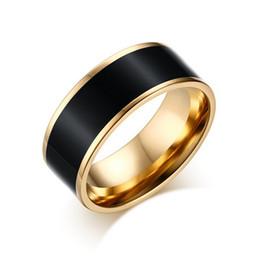 Wholesale White Enamel Vintage Ring - Vintage Gold Plated Elegant 8mm Width Amazing Colorful Shining Enamel Rings Jewelry for Female & Male