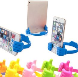 Wholesale Iphone Table Mount - Universal Mobile Cell Phone Holder Creative Thumb Phone Table Mount Stand Bracket for iPhone Samsung iPad Smartphone Tablet