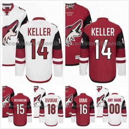 Wholesale Coyote Brown Xl - Derek Stepan Jersey 21 Clayton Keller 14 Brad Richardson 15 Christian Dvorak 18 Max Domi 16 Mens Ice Hockey Jerseys Arizona Coyotes M-3XL