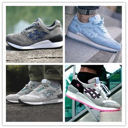 Wholesale 36 V - High Quality Gel Lyte V 5 RESPECTOR Captain America Outdoor 3 Casual Shoes Men And Women Lightweight Breathable Athletic Sneakers size 36-44