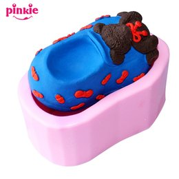Wholesale Silicon For Shoes - Bear shoes shaped Handmade chocolate molds,candle molds, form for soap wholesale,silicon candle moulds,wholesale