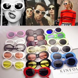 Wholesale Wholesale Rocks Glasses - 21 colors Retro Oval Sun glasses big children Men Women Punk Rocking glasses aliens Eyewear C2953