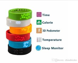 Wholesale Dhl W2 - 2015 New W2 Smart Wristband Watch LED Bracelet Bangle Wristband Sports 3D Pedometer Sleep Tracking Wearable USB Waterproof IP67 Free DHL