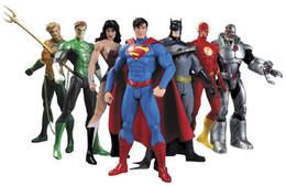 Wholesale Superman Action Figure Toys - DC Superman Batman Collectibles Justice League 7-Pack Action Figure Superman Model Collection Toy Gift 7Pcs Set